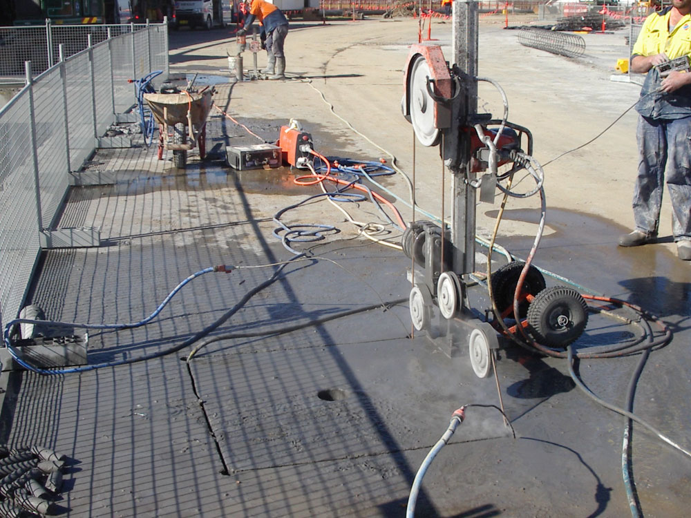 Concrete Wire Saw | Wire Sawing Ozcut Concrete Cutting
